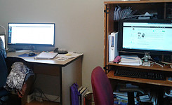 Balance Between Personal Life and Work - When Working from Home - my office space