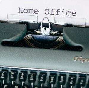 What I Learned from Working at Home - type writter