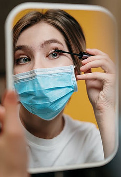 What is a Winning Attitude - putting makeup on while wearing a mask