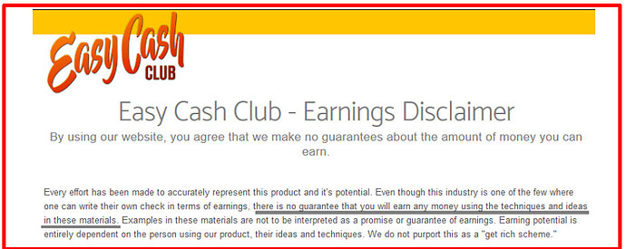 What Is Easy Cash Club About - Easy Cash Club Guarantee