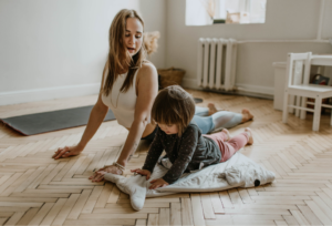 How Does Exercise Improve Brain Function - Mom and toddler exercising