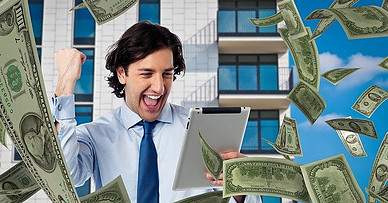 The Six Figure Success Academy Review - man happy for receiving money