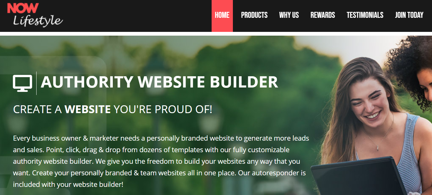 What Is Now Lifestyle About - authority website builder